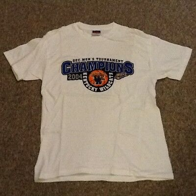 2004 Kentucky Wildcats SEC Tournament Champions T Shirt Basketball Calipari NBA