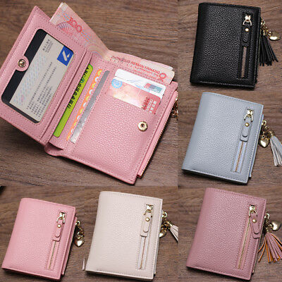 US Women Short Wallet Leather Small Clutch Purse Card Holders New Handbag