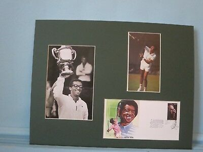 Tennis Great Arthur Ashe wins at Wimbledon - First Day Cover of his stamp