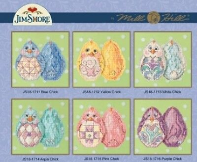 Jim Shores Easter Egg Ornaments for Mill Hill Cross-stitch Kits - Choose Design