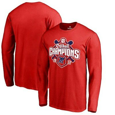 Ole Miss Rebels Fanatics Branded 2017 SEC Softball Tournament Champions Long