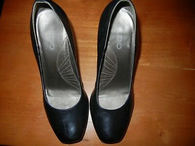 Womens Black High Heel Shoes by Aldo Size 38 in US 8