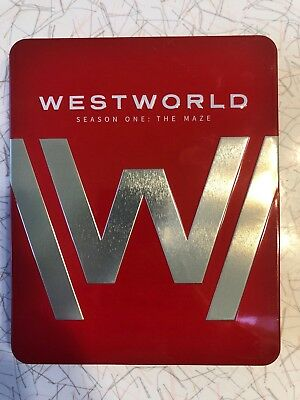 Westworld Season 1 One The Maze 4K - Blu-Ray - Limited Tin Steelbook- Like New