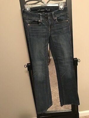 American Eagle Outfitters Woman's Stretch Original Boot Blue Jeans Size 00 Reg