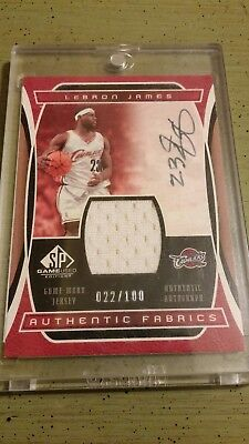 LeBron James 2004 SP Game Used Edition Auto Jersey d100 Rare on Card Auto