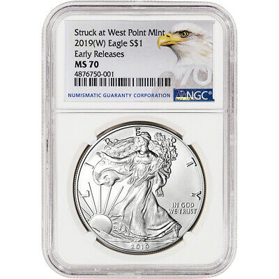 2019-W American Silver Eagle - NGC MS70 - Early Releases - Grade 70