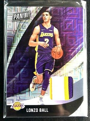 2018 Panini Black Friday 3 Color Patch Non Auto Lonzo Ball RC LAKERS