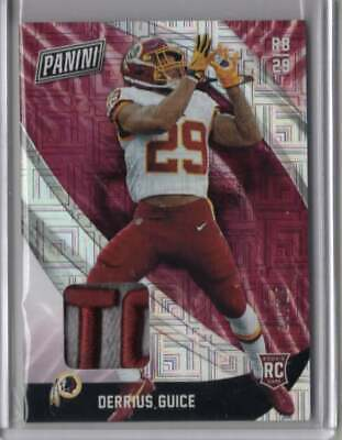 2018 Panini Black Friday Derrius Guice Patch 25 SSP - Great Patch