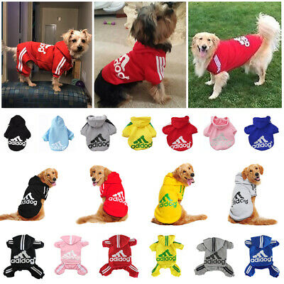 Adidog Hoodie 24-Leg Jumpsuit Dog Puppy Winter Warm Coat Pet Cat Apparel XS-9XL