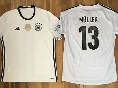 LOT of 2 Men's Size XL Adidas Germany Thomas Muller World Cup Soccer Jerseys