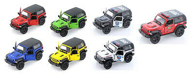 Kinsmart 2018 Jeep Wrangler 134 Scale with Hard Top Diecast Model Toy Car
