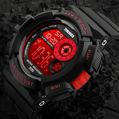 Mens Army SHOCK Sport Quartz Wrist Day Date Digital Watch Waterproof Military