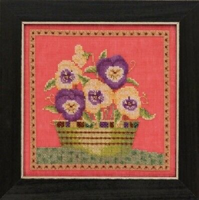 Debbie Mumm for Mill Hill - Blooms and Blossoms Xstitch Kit - Pansies