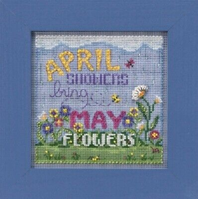 Mill Hill Spring 2019 Button and Bead Xstitch Kit - April Showers
