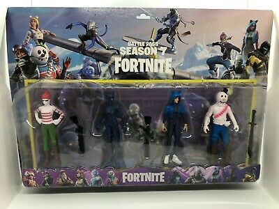 4 Fortnite Battle Royale action figures set 5 Fortnite toys with weapons