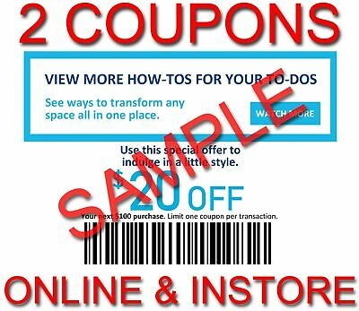 3x Lowes 20 OFF 100 INSTANT Discount Fastest DELIVERY-1COUPON INSTOREONLINE