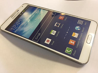 White Non Working Display Phone for Galaxy Note 3 Verizon 4G LTE - FOR PLAYING