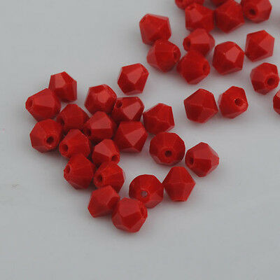 500pcs exquisite Porcelain RED Crystal 4mm 5301 Bicone Beads loose beads