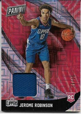 2018 PANINI BLACK FRIDAY SQUARES JEROME ROBINSON RC JERSEY 1925 CLIPPERS 🔥🏀