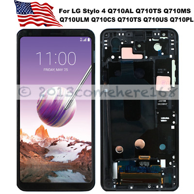 For LG Stylo 4 Q710MS Q710TS Q710AL Replacement LCD Screen Digitizer Touch Frame
