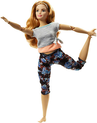 Barbie  Made to Move Doll - Curvy with Auburn Hair  PLAY DOLL Figure for Girls