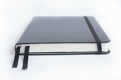 Bullet Journal - A5 Dot Grid Hard Cover Notebook Thick Paper 220 pages - Black