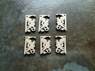 Dollhouse Miniature Squirrel Corbels or Brackets 112 Scale Set of 4