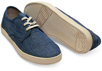 Toms Mens Sneakers Paseo Canvas Light Blue Chambray Choose Your Size New in Box