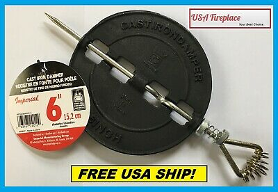 IMPERIAL - BM0051-A 6 Cast Iron Stove Pipe Damper FREE USA SHIPPING