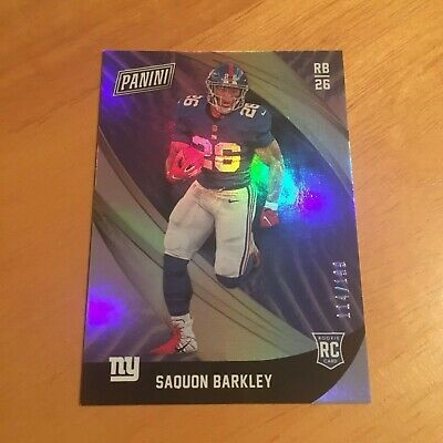Saquon Barkley 2018 Panini Black Friday Holo Refractor Rookie RC SSP 199 Giants