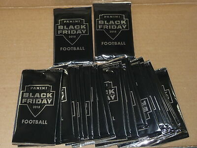 2018 Panini BLACK FRIDAY FOOTBALL SEALED PACK LOT OF 26 PACKS 24 THIN 2 THICK