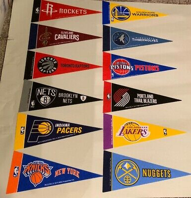 NEW NBA Basketball Teams Mini Pennants 4x9 New Rico