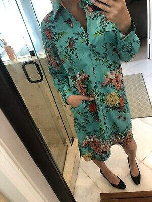 Soft Surroundings Womens Small Cotton Dress  Floral Pockets