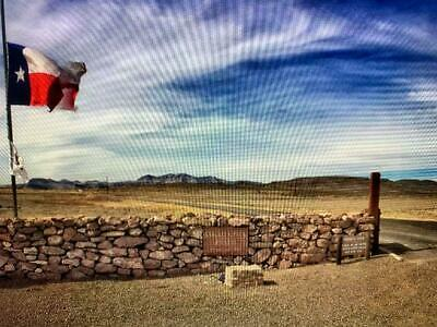 21-11 ACRE WEST TEXAS GUNSIGHT RANCH  OLD DEED SPECTACULAR YOUR OWN ADDRESS