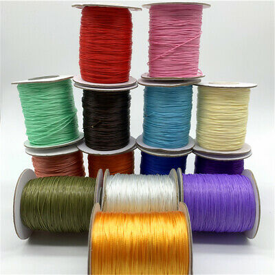 10yds 0-5mm Waxed Cotton Cord Waxed Thread Cord String Strap Rope Jewelry Making