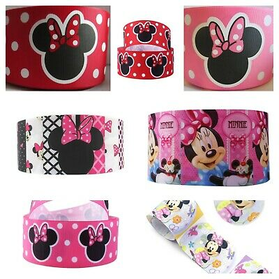 MINNIE MOUSE 3 AND 1-5  DISNEY GROSGRAIN RIBBON FOR HAIR BOWS CRAFTS