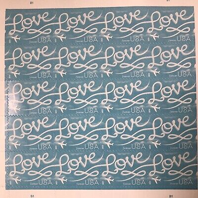 20 USPS 2017 Love Skywriting Forever Stamps- First Class Postage Stamp