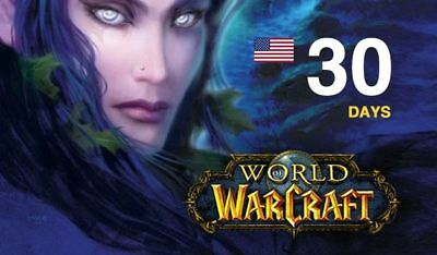 World of Warcraft - 30 Days Game Time  - WoW BfA  Classic - US AMERICAS Ocean