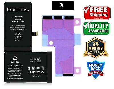 2716mAh Replacement Battery iPhone X with Adhesive Tape 24 Months Warranty