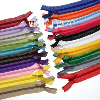 3060pcs 12-20inch Nylon Invisible Silk Zippers Sewing Tailoring Accessories