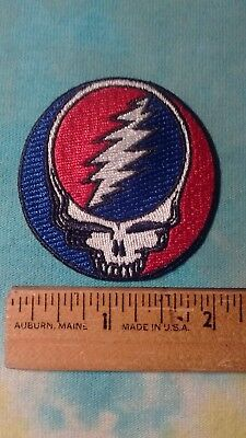Grateful Dead Steal Your Face SYF 2 Inch Iron On Patch