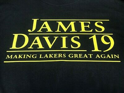 Los Angeles Lakers Lebron James - Anthony Davis Black T shirt