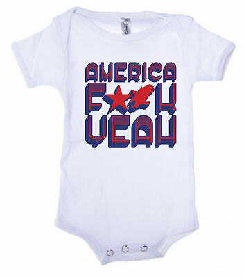 America F Yeah Baby 4th of July shirt Graphic Baby One piece