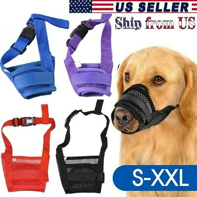 Pet Dog Muzzle Stop to Barking - Chewing Adjustable Mesh Mask Protect to Biting