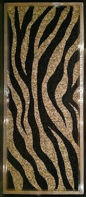 ORIGINAL DOUG POWELL  ZEBRA STRIPES  Keyboard Mosaic FRAMED ART 124 x 52 x 2