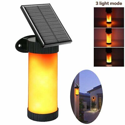 LED Solar Path Torch Dancing Flame Light Flickering Fire Outdoor Lamp Waterproof