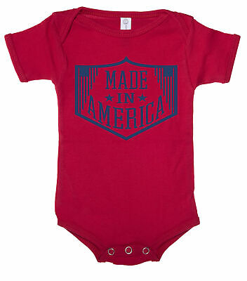 Made in America Baby one piece Baby 4th of July T-shirt Baby Romper