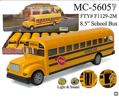 large Yellow School Bus Diecast Model pull back action Light - Sound 8-5 inch