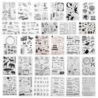 DIY Transparent Clear Stamp Silicone Card Handbook Scrapbooking Album Seal Stamp