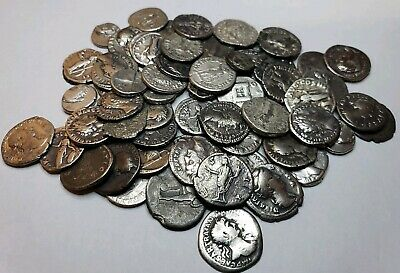 ANCIENT GREEKROMAN RANDOM PICKED SILVER COINS ALL OVER 2000 YEARS OLD DENARIUS